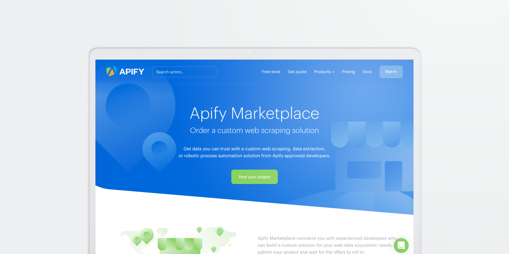 Get custom web scraping solutions from certified developers on Apify Marketplace