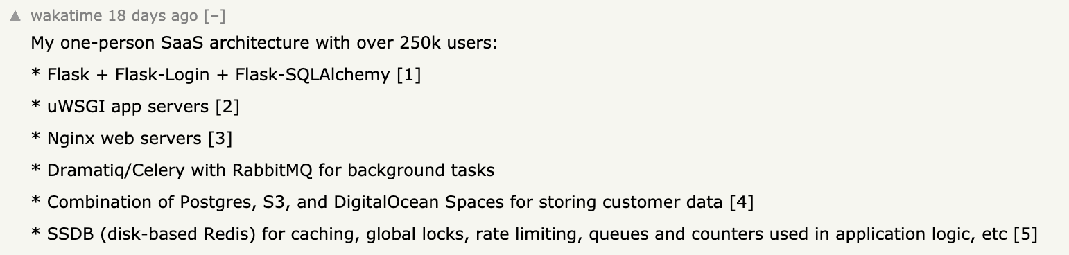Building a one-person SaaS company on Hacker News