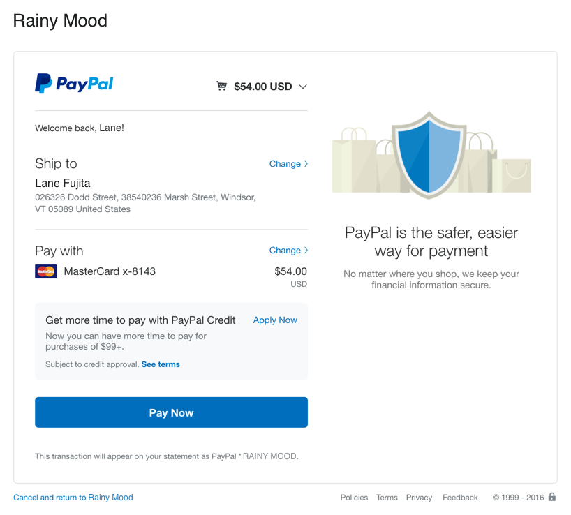 Paying with PayPal is made easy across thousands of websites because of the PayPal API