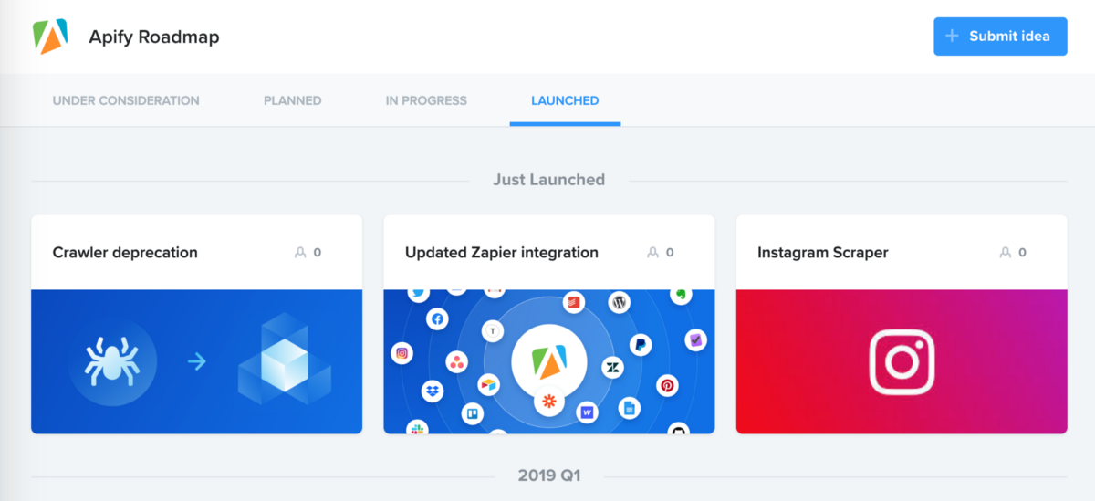 Launching Apify roadmap — new features and actors based on your feedback